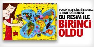 Tevfik İleri İlkokulu öğrencisi Naz Peri çizdiği resimle Türkiye Birincisi oldu