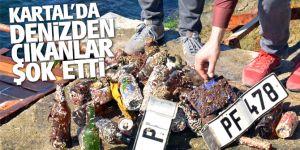 Kartal'da dalgaçıların Denizden çıkardıkları şok etti