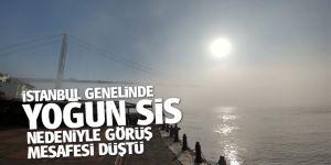 İstanbul genelinde yoğun sis nedeniyle görüş mesafesi düştü