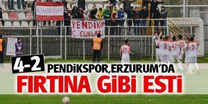 Pendikspor, Erzurum'da Fırtına gibi esti! 4-2