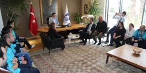 İl şampiyonu özel sporcular mutluluklarını Başkan ile paylaştı