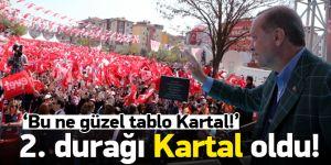 Cumhurbaşkanı Erdoğan: Bu ne güzel tablo Kartal!