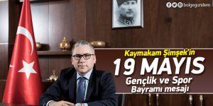 Pendik Kaymakamı Şimşek'in 19 Mayıs mesajı