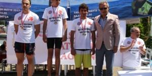 Şehit Polis Feti Sekin Yüzme Maratonu Datça'da yapıldı