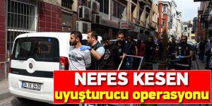 Polis'ten Kumkapı'da nefes kesen uyuşturucu operasyonu: 10 gözaltı