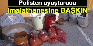 Polisten uyuşturucu imalathanesine baskın: 11 gözaltı