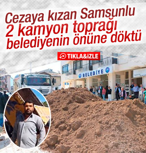 Harfiyat Toprağını Vezirköprü Belediyesinin Önüne Döktü!