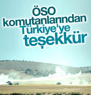 ÖSO komutanlarından Türkiye'ye teşekkür