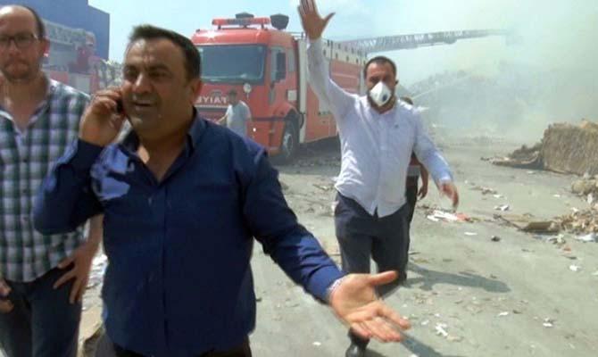 Yangını bıraktılar gazetecilere saldırdılar