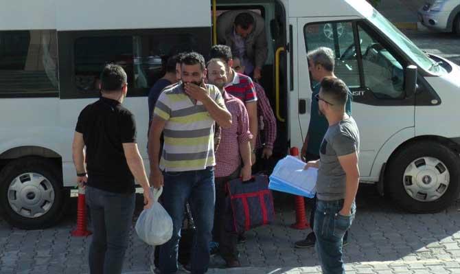 Nevşehir'de ByLock'tan gözaltına alınan 8 kişi adliyeye sevk edildi